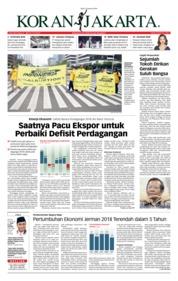 Cover Koran Jakarta 16 Januari 2019