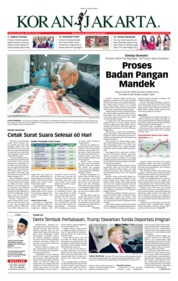 Cover Koran Jakarta 21 Januari 2019