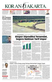 Cover Koran Jakarta 22 Januari 2019