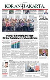 Cover Koran Jakarta 23 Januari 2019