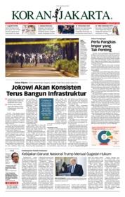 Cover Koran Jakarta 18 Februari 2019
