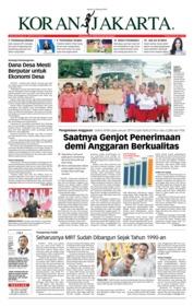 Cover Koran Jakarta 21 Februari 2019