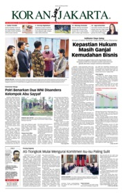 Koran Jakarta Cover 22 February 2019