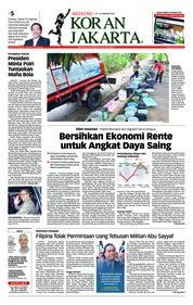 Cover Koran Jakarta 23 Februari 2019