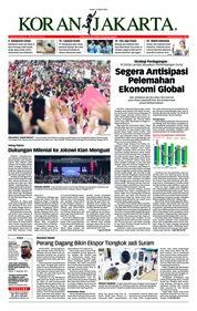 Cover Koran Jakarta 11 Maret 2019