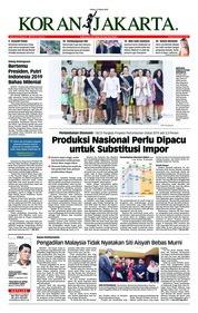 Cover Koran Jakarta 12 Maret 2019