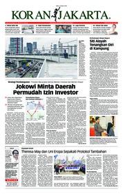 Cover Koran Jakarta 13 Maret 2019