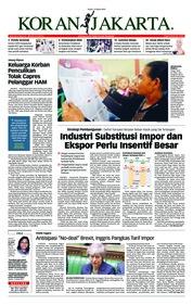Cover Koran Jakarta 14 Maret 2019