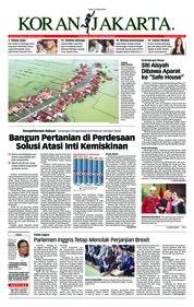 Cover Koran Jakarta 15 Maret 2019
