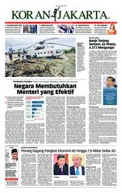 Cover Koran Jakarta 18 Maret 2019