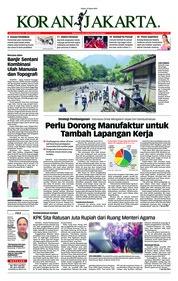 Cover Koran Jakarta 19 Maret 2019