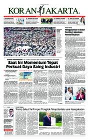 Cover Koran Jakarta 22 Maret 2019