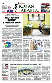 Cover Koran Jakarta 23 Maret 2019