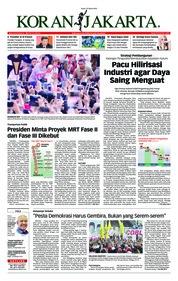 Koran Jakarta Cover 25 March 2019