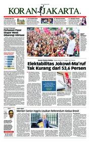 Koran Jakarta Cover 26 March 2019