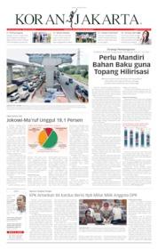 Cover Koran Jakarta 29 Maret 2019