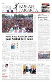 Cover Koran Jakarta 06 April 2019