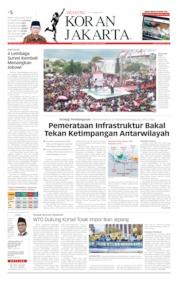 Cover Koran Jakarta 13 April 2019
