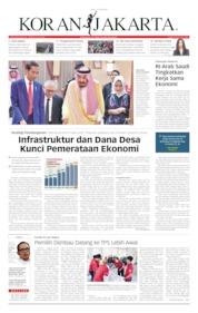 Cover Koran Jakarta 15 April 2019