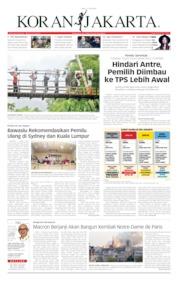 Cover Koran Jakarta 17 April 2019