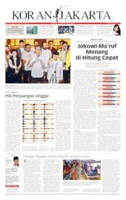 Cover Koran Jakarta 18 April 2019
