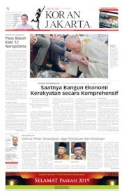 Cover Koran Jakarta 20 April 2019