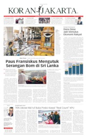Cover Koran Jakarta 22 April 2019