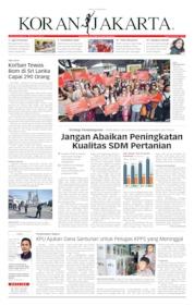 Cover Koran Jakarta 23 April 2019