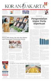Cover Koran Jakarta 14 Mei 2019