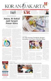 Cover Koran Jakarta 15 Mei 2019
