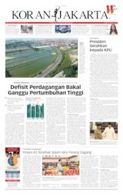 Cover Koran Jakarta 16 Mei 2019