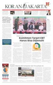 Cover Koran Jakarta 17 Mei 2019