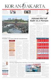 Cover Koran Jakarta 21 Mei 2019