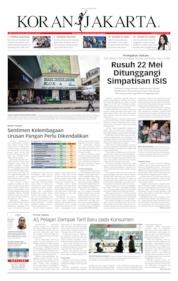 Cover Koran Jakarta 24 Mei 2019