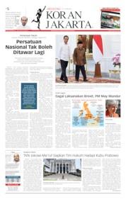 Cover Koran Jakarta 25 Mei 2019