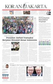 Cover Koran Jakarta 27 Mei 2019