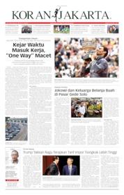 Cover Koran Jakarta 10 Juni 2019