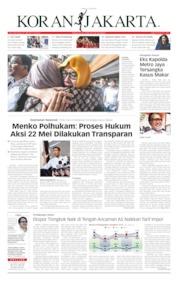 Cover Koran Jakarta 11 Juni 2019