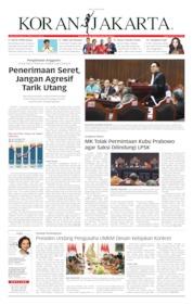 Cover Koran Jakarta 19 Juni 2019