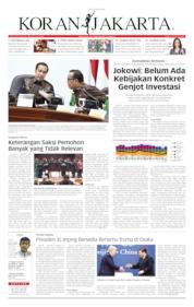 Cover Koran Jakarta 20 Juni 2019