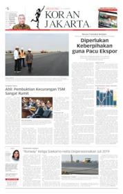 Cover Koran Jakarta 22 Juni 2019