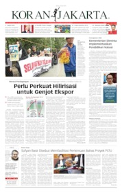 Cover Koran Jakarta 25 Juni 2019