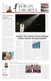 Cover Koran Jakarta 06 Juli 2019