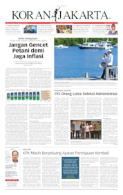 Cover Koran Jakarta 12 Juli 2019