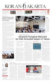 Cover Koran Jakarta 16 Juli 2019