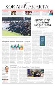 Cover Koran Jakarta 17 Juli 2019