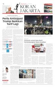 Cover Koran Jakarta 03 Agustus 2019