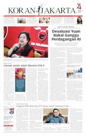 Cover Koran Jakarta 09 Agustus 2019