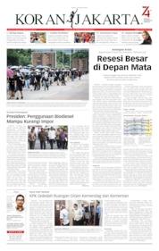 Cover Koran Jakarta 13 Agustus 2019