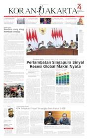 Cover Koran Jakarta 14 Agustus 2019